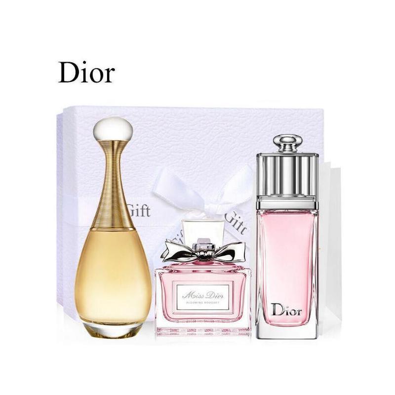 Dior迪奥香水小样套装三件组合套(真我+魅惑+花漾各5ml)送定制礼盒+送专柜袋 5ML